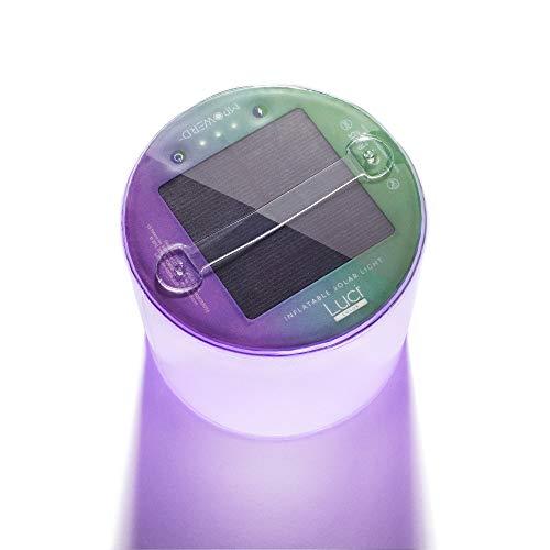 MPOWERD Luci Color - Multi Color Inflatable Solar Light, Sparkle Finish