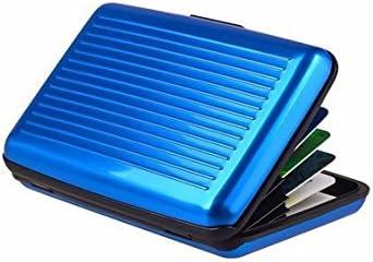 Portafoglio Sottile in Alluminio con Porta Carte di Credito. Argento RFID Porta