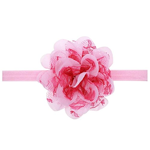 Mchoice New Women Fashion Lace Wide Headband Bohemian Headwrap Accessories - Satin Circle Bow Ladies