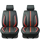 August Auto Premium Leather Sporty Universal Fit Two Front Car Seat Covers, fit for Most Sedan SU...