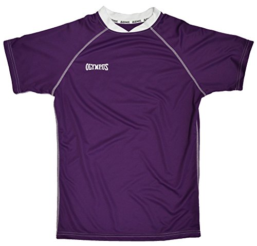 Olympus Basic Rugby Jersey, Purple/White, Adult Medium