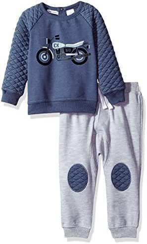Calvin Klein Baby Boys' 2 Pc French Terry Jog Set