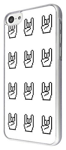393 - Love Peace Rock & Roll Design iphone 5C Coque Fashion Trend Case Coque Protection Cover plastique et métal