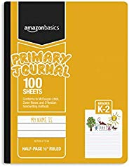 "AmazonBasics Primary Journal 1/2"" Ruled & Blank Space, 100-Sheet, 9.75"""