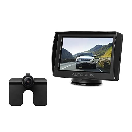Easy One-Wire Installation IP 68 Waterproof Camera for Truck Sedan AUTO-VOX M1 4.3/'/' TFT LCD Monitor Backup Camera Kit