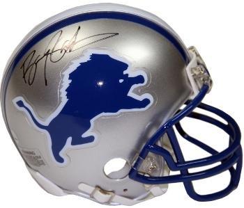 Barry Sanders Autographed Mini Helmet - TB Riddell Hologram Black sig) - Steiner Sports Certified - Autographed NFL Mini -