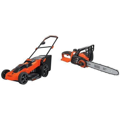 BLACK+DECKER CM2040 40V Lithium 3-in-1 Cordless Mower + Compatible LCS1240B Chainsaw Bare Tool Bundle