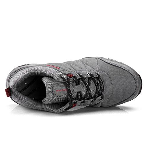 ZanYeing Herren Wanderschuhe Traillaufschuhe Ultra-Light Sneakers Laufschuhe Sportschuhe Anti-Rutsche Outdoorschuhe Trekking 40-46 Grau