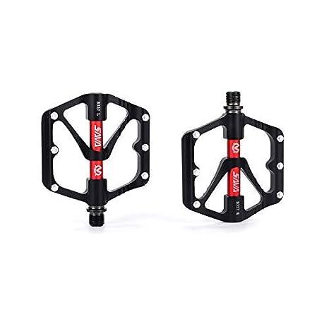 Universal Plastic Mountain Bike Bicycle Folding Pedals Non-slip Black GA