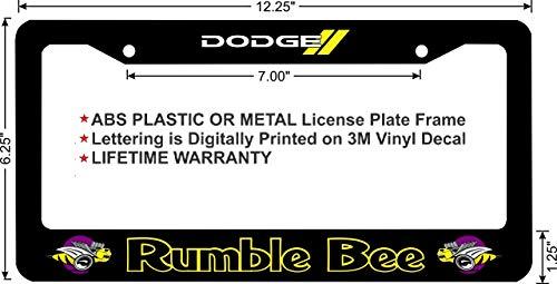 - Dodge RAM Rumble BEE Custom License Plate Frame (Metal Frame, Qty 1)