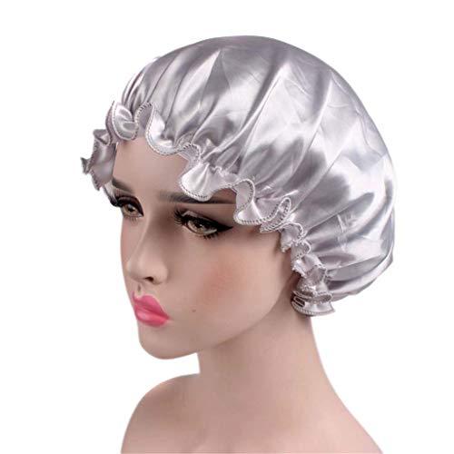 Soft Satin Hat Bonnet Night Sleep Cap Sleeping Head Cover for Women Girl Afterso
