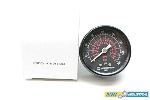 NEW NORGREN 18-013-204 0-160PSI 2IN FACE 1/4IN NPT PRESSURE GAUGE D405443