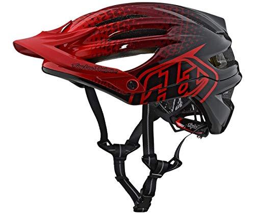Troy Lee Designs 2018 A2 MIPS Starburst Bicycle Helmet-Red-XL/2XL
