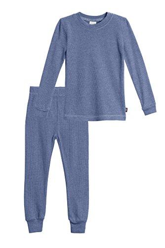 - City Threads Baby Boys Thermal Underwear Set Perfect for Sensitive Skin SPD Sensory Friendly, Denim Blue- 12/18M