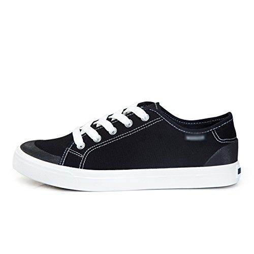 scarpe da primavera WFL scarpe Nero low uomo da amanti low di piatto e casual traspirante estate ginnastica studenti Scarpe uomo scarpe tela da wxFqpx