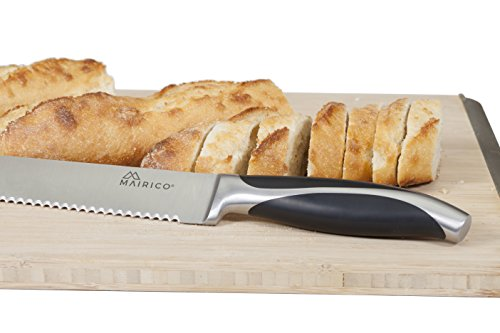 MAIRICO Ultra Sharp Premium 10-inch Stainless Steel Serrated Bread Knife - Ergonomic Design - Best for Cutting Cakes and Crusty Loaves by MAIRICO (Image #5)