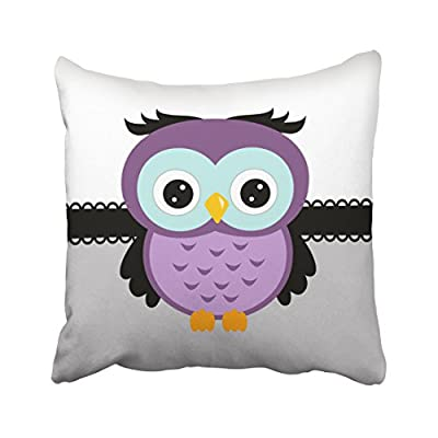 Pakaku Throw Pillows Covers for Couch Indoor Bed 18 x 18 Inch,Retro Purple Owl Home Sofa Cushion Cover Pillowcase Gift Decorative Hidden Zipper Design Cotton and Polyester Blended Soft Touch - Size: 18 x 18 inch, 45cm x 45cm Hidden zipper closure.Double-sided pattern Cushion Cover ONLY, Insert SOLD SEPARATELY. - patio, outdoor-throw-pillows, outdoor-decor - 41VzyGZGQ7L. SS400  -