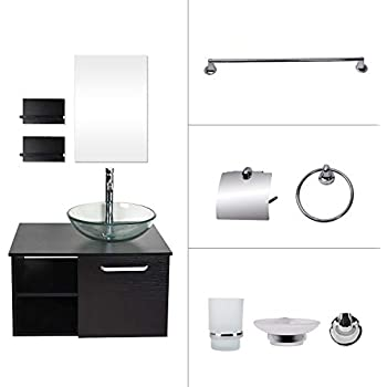 28 Inches Bathroom Vanity, Modern Lavatory Wall Mounted