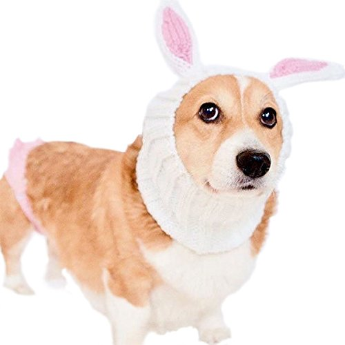 Zoo Snoods Bunny Dog Costume - Neck and Ear Warmer Headband Protector -