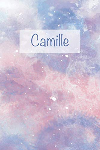 Camille: First Name Personalized Notebook, College Ruled (Lined) Journal, Cute Pastel Notepad with Marble Pattern for Girls and Women (Small Format) ()