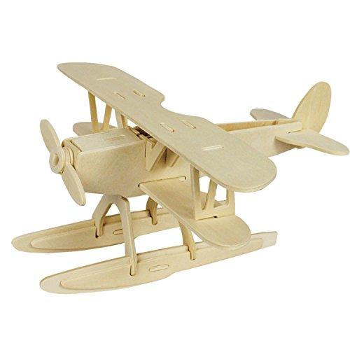 [해외]A-Parts Vehicle Toys Old Version Car Boat Helicopter DIY 3D Cut Model Kit- Wooden Puzzle Toy for Kids Home Decoration / A-Parts Seaplane DIY 3D Cut Model Kit- Wooden Puzzle Toy for Kids Home Decoration