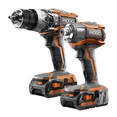 Ridgid 18-volt Lithium-ion Cordless Hammer Drill/driver and Impact Driver Combo Kit