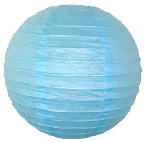 Just-Artifacts-16-Sky-Blue-ChineseJapanese-Paper-LanternLamp-16-Diameter-Just-Artifacts-Brand