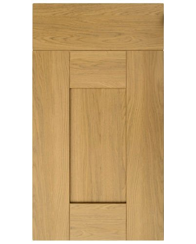 Buckingham Lissa Oak Five Piece PVC Shaker Replacement Kitchen Cabinet Cupboard Unit Carcass Doors & Drawer Fronts - Edging Tape 22mm Topdoors