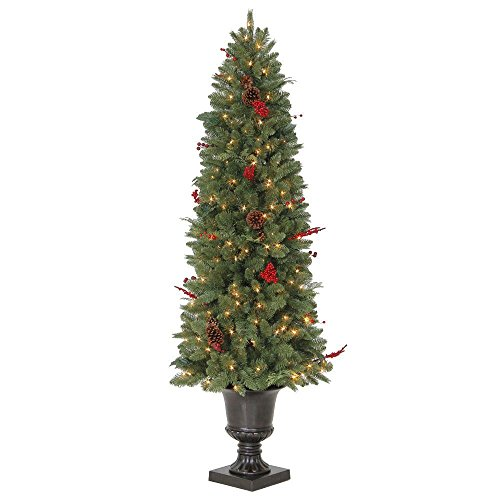 Artificial Christmas Trees Martha Stewart - 6 ft. Potted Artificial Christmas Tree with 200 Clear Lights