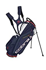 If you are a walking golfer and like to pack light for the round, This is the bag for you.The Cobra ultralight stand bag (4.5 lbs) is incredibly light and easy to carry. Availble in 7 different colors and features a 5 way top with designated ...