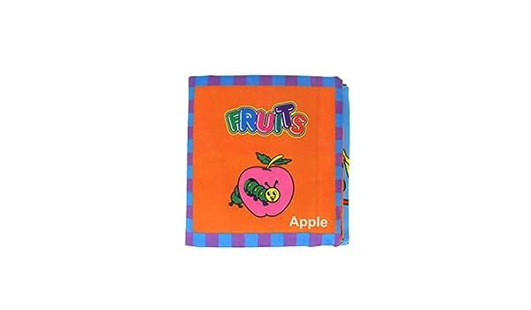 Toyvian Bebé Primer Libro de Paño Suave No Tóxico Leaning Book Desarrollo de Inteligencia Libro de Tela Juguetes (Fruta): Amazon.es: Juguetes y juegos