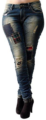 Mujer Blue Skinny Jeans Para Vaqueros Monkey nqxFAWwpS