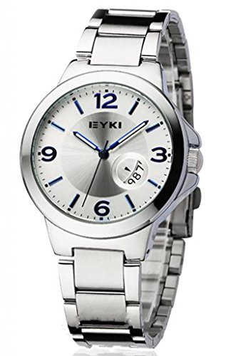 Watches Stainless Steel for Men with Rotary Table Calendar
