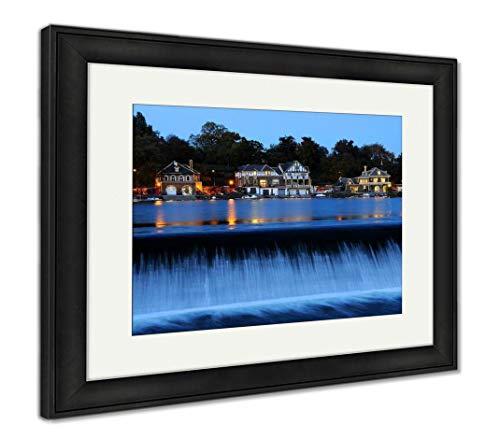 (Ashley Framed Prints Philadelphia Boathouse Row at Twilight, Wall Art Home Decoration, Color, 34x40 (Frame Size), Black Frame,)