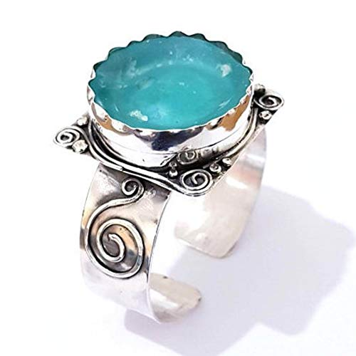 Holysands Ancient Roman Glass 925 Sterling Roman Glass Cuff Bracelet