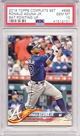 Amazoncom 2018 Topps Baseball 698 Ronald Acuna Jr Rookie Card