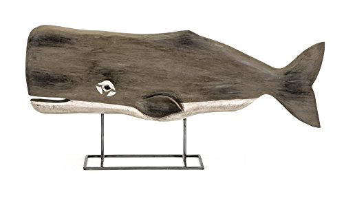 IMAX 84492 Achilles Carved Wood Whale Statuary
