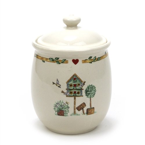 - Birdhouse by Thomson, Pottery Canister, Medium