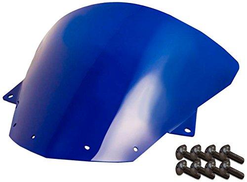 (Sportbike Windscreens ADKW-412B Blue Windscreen (Kawasaki Zx10 (08-10) Zx-6R(09-14) With Silver screw kit), 2 Pack)