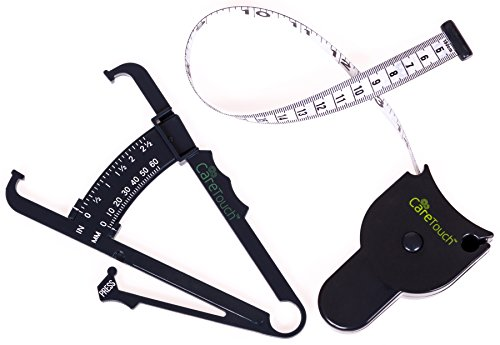 Care Touch Skinfold Body Fat Caliper Set  Care Touch Measure Tape Included