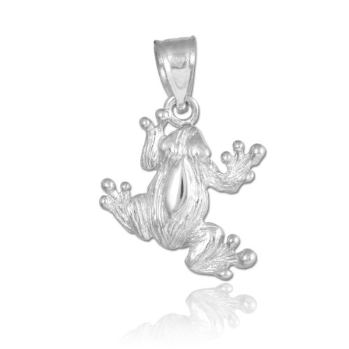 925 Sterling Silver Frog Charm Pendant