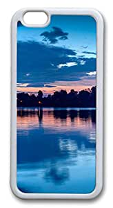 iphone 6 4.7inch Case iphone 6 4.7inch CasesLake at night TPU Rubber Soft Case Back Cover for iphone 6 4.7inch White