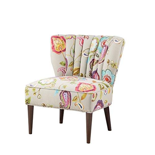 Amazon Com Madison Park Korey Channel Back Slipper Chair