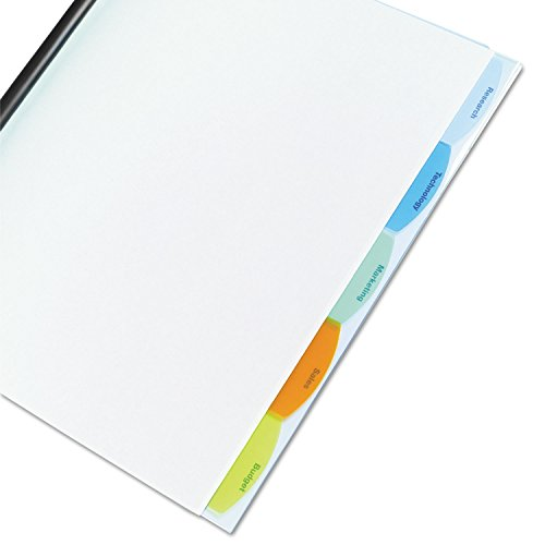 GBC Products - GBC - Polypropylene View-Tab Report Cover, Binding Bar, Letter, Holds 40 Pages, Clear - Sold As 1 Each - Made-to-fit dividers organize report topics with easy-to-view translucent tabs.