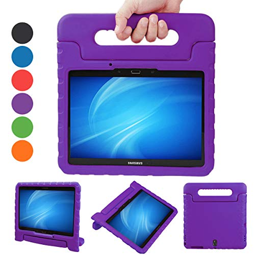 XKTTSUEERCRR Samsung Galaxy Tab S 10.5-inch Shockproof Lightweight Kids Adjustable Portable Handheld Drop Protection EVA Tablet Shell Cover Case for Samsung Galaxy Tab S 10.5(SM-T800/SM-T805)-Purple