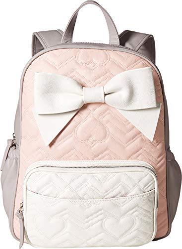 - Betsey Johnson Women's Convertible Backpack Diaper Bag Blush Multi One Size