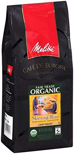 Melitta Trustworthy Trade Organic Coffee, Morning Bliss Ground, Light Roast, 10 ounce