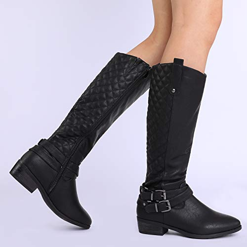 a92de52af99 DREAM PAIRS Women s Winter Knee High Riding Fashion Boots