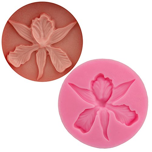 [Let'S Diy Food-grade Silicone Mold 3D Orchid Flower Shape Embossing Fondant Cake Decorating Tools Soap] (2016 Womens Halloween Costumes Diy)