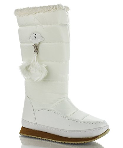 RF ROOM OF FASHION Elsa-01 Snow Boots (White Nylon Size 7) (Nylon Footwear White)